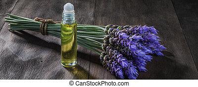 bloemen, lavendelblauwe olie, essentieel