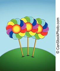 bloemen, lollipops, vorm