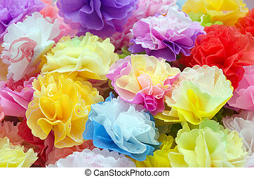 bloemen, papier, craftwork, gemaakt
