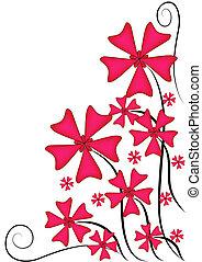 bloemen, roze