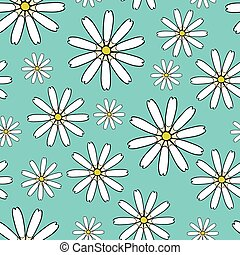 bloemen, seamless, achtergrond