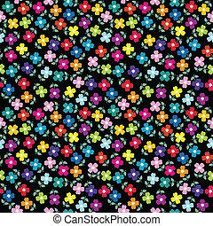 bloemen, seamless, achtergrond, gekleurde