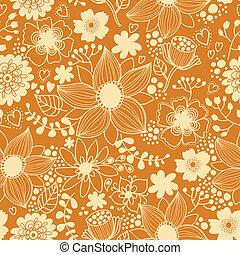 bloemen, seamless, textuur