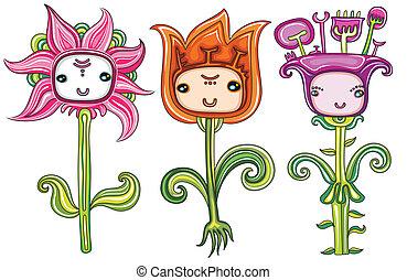 bloemen, set