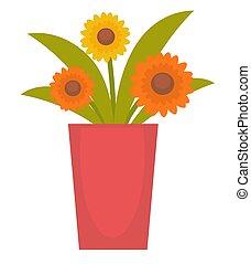 bloemen, vaas