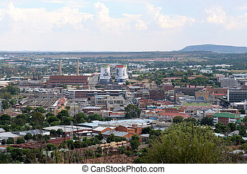 Bloemfontein cityscape - Part of the city centre of...