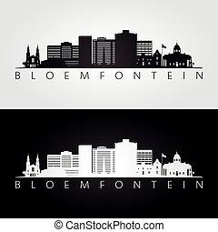 bloemfontein, horisont siluett, milstolpar