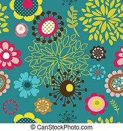 bloempatroon, seamless, achtergrond