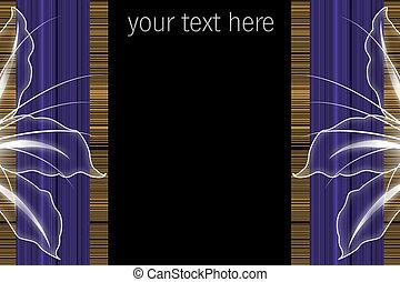 bloesems, ruimte, tekst, abstract, prachtig, streep, ...