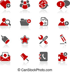 blog, &, ícones internet, /, redico