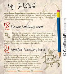 blog, ウェブサイト, テンプレート