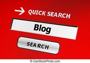 blog, 捜索しなさい