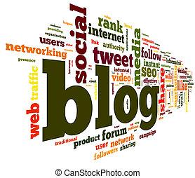 blog, 概念, 在, 詞, 標簽, 雲