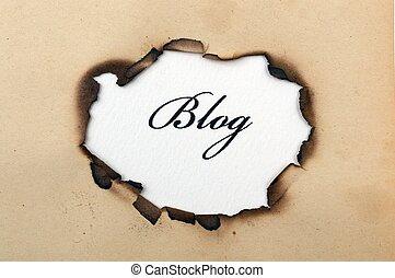 blog, 穴, ペーパー