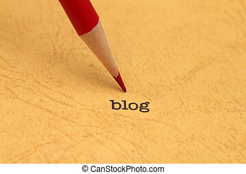 blog, 鉛筆, テキスト