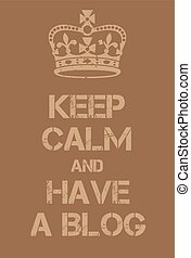 blog, affiche, calme, avoir, garder