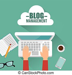 blog, amministrazione, disegno