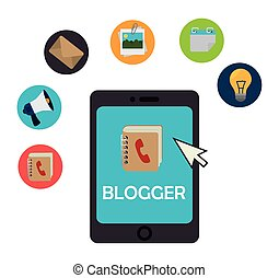 Blog and blogger social media