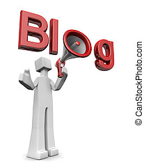 Blog and freedom of speech concept