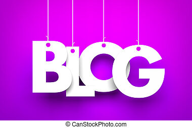 Blog - background - Call us - word hanging on the string