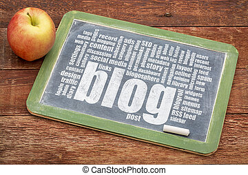 blog,  Blackboard, ord, moln