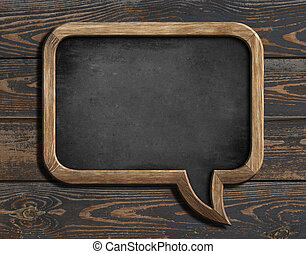 blog, blackboard, på, ved, bakgrund