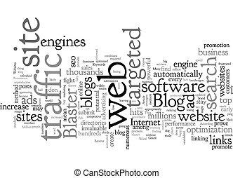 Blog Blaster text background wordcloud concept