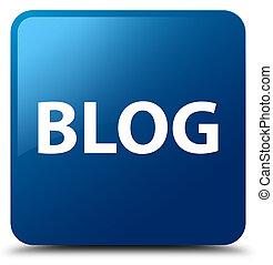 Blog blue square button