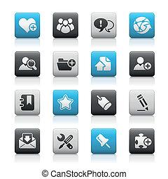 blog, &, /, boutons, mat, internet