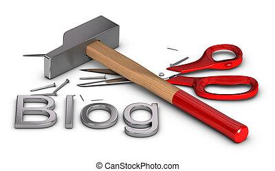 blog, bricolage, -, faccia lei