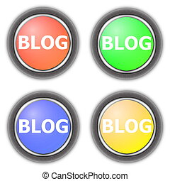 blog button collection