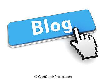 blog button concept 3d illustration