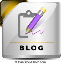 Blog button/icon