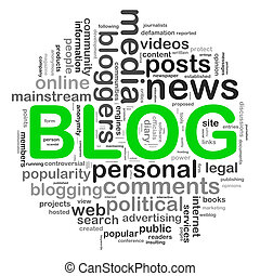blog, circolare, etichette, disegno, parola