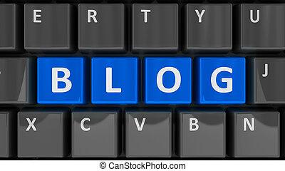 blog, clavier ordinateur