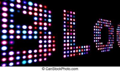 Blog colorful led lights over black