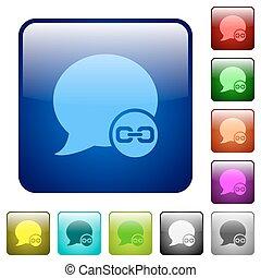 Blog comment attachment color square buttons