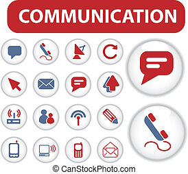blog, comunicación, botones