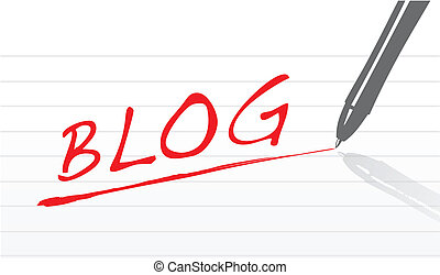 Blog concept illustration design