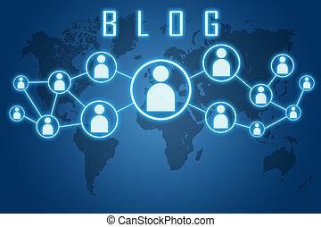 blog, concepto