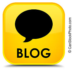 Blog (conversation icon) special yellow square button