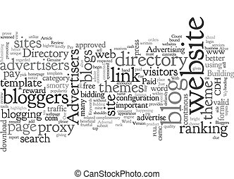 BLOG CRITIC text background wordcloud concept