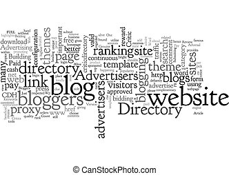 Blog Critics text background wordcloud concept