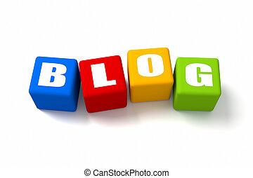 blog, cubos, coloreado