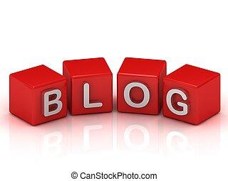 blog, cubos, de, naranja