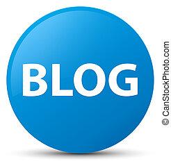 Blog cyan blue round button