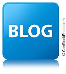 Blog cyan blue square button
