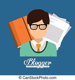 Blog design, vector illustration