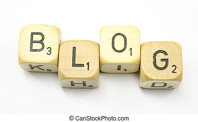 Blog Dice - Dice showing the word Blog on a white background...