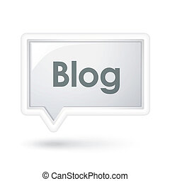 blog, discurso, burbuja de la palabra